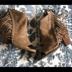Dolce Vita Brown fringe heels size 7